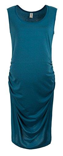 La vogue Damen Schwangerschafts Kleid Umstandskleid Sommerkleid Blau Bust86cm