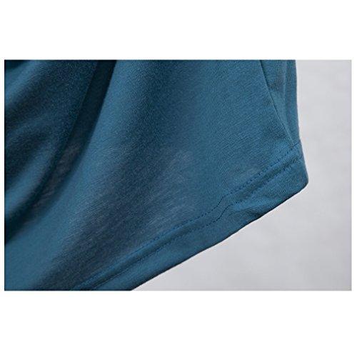 La vogue Damen Schwangerschafts Kleid Umstandskleid Sommerkleid Blau Bust86cm -
