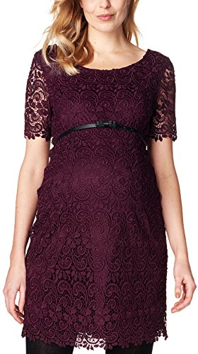 ESPRIT Maternity Damen Umstandskleid Dress Wvn Ss, Rot (Burgundy Night 651), 36
