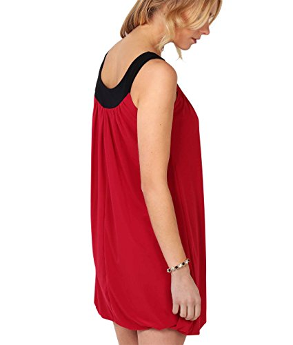 KRISP Damen Tunika Minikleid Retro 20er Jahre Stil Swing_(3565-RED-14) -