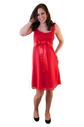 Que Sera Damen Umstandsmode Kleid June Rot Größe 34