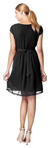 ESPRIT Maternity Damen Umstandskleid Dress woven sl (34, schwarz (black))