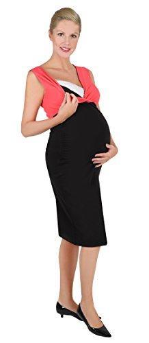 Be! Mama 2in1 Wende-Kleid, Umstandskleid, Stillkleid, Modell: DOUBLE, schwarz-koralle, L - 2