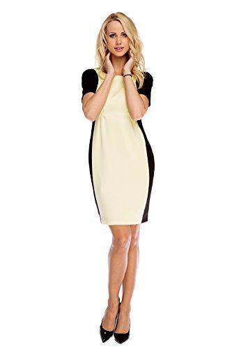 My Tummy Mutterschafts Kleid Umstands Kleid & Stillkleid elegant Adele schwarz-gelb XL (X-large)