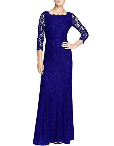 Han Lucky Star Damen Kleid Frauen 2/10 Ärmel lange Brautjunfer Abschlussball Partei Hochzeit Maxi langes Kleid Schwarz Blau