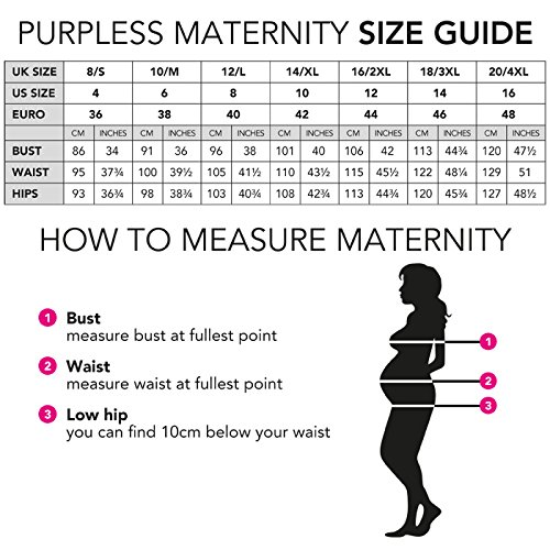 Purpless Maternity Herrlich V-Ausschnitt Kleid Mutterschaft Kleidung Top 4400 (42 (UK 14), Beige) - 2