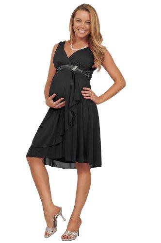 Mutterschafts Brautjungfer Hochzeits Chiffon Kleid mit Strass und V-Ausschnitt