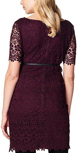 ESPRIT Maternity Damen Umstandskleid Dress Wvn Ss, Rot (Burgundy Night 651), 38 -
