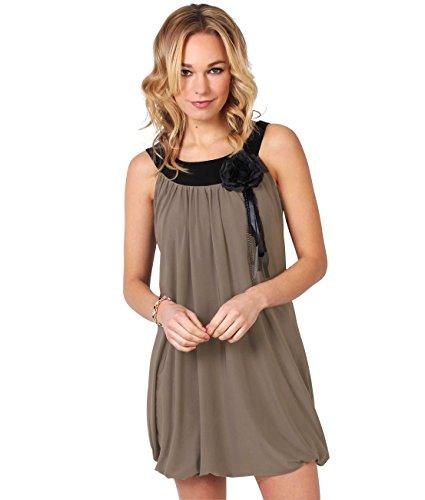 KRISP Damen Kleid Braun Kaffee 40