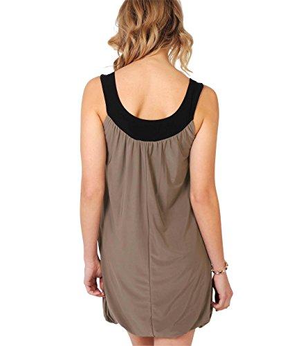 KRISP Damen Kleid Braun Kaffee 40 - 3