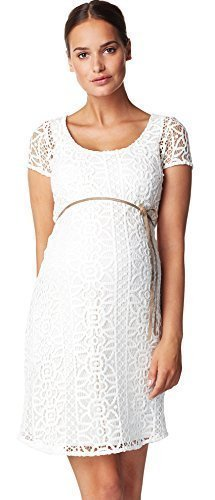 Noppies Damen Umstandsmode Kleid Dress woven ss Elise Hochzeitskleid 60239 (S, creme (off white))