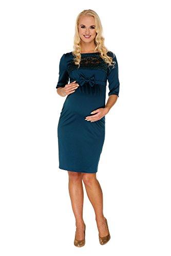 My Tummy Mutterschafts Kleid Umstands Kleid Marion grün Spitze Schleife L (large) -