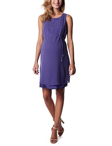 ESPRIT Maternity Damen Umstandskleid P84275, Knielang, Einfarbig, Gr. 40, Violett (Dark Purple 510)