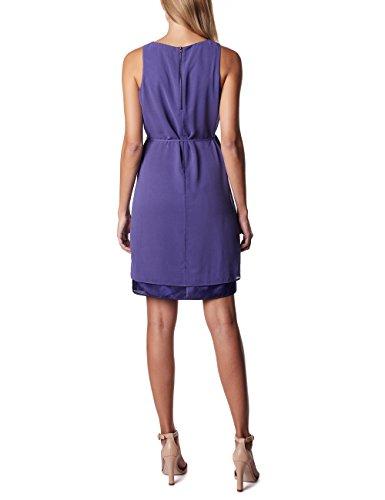 ESPRIT Maternity Damen Umstandskleid P84275, Knielang, Einfarbig, Gr. 40, Violett (Dark Purple 510) -