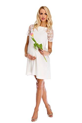 My Tummy Mutterschafts Kleid Umstands Kleid Julia mit Spitze A-Linie Elegant Hochzeit M (medium) -