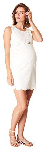 ESPRIT Maternity Damen Umstandskleid Dress woven ss, Midi, Einfarbig, Gr. 44, Elfenbein (Off white) - 2