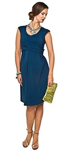 2in1 elegantes und bequemes Umstandskleid / Stillkleid, Modell: Zurina, indygo, M